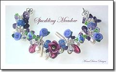 Sparkling Meadow  Lampwork Glass Charm Bracelet-MDV Designs